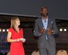 ESPN's Linda Cohn and Superstar Jerry Rice